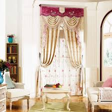 living room curtains with valance. beige floral jacquard polyester blackout living room curtains(no valance) curtains with valance r