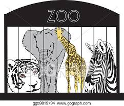 zoo animals in cages clipart. Perfect Zoo Animals At The Zoo Intended In Cages Clipart