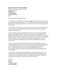 Janitorial Cover Letter Janitor Entry Level Janitorial Cover Letter
