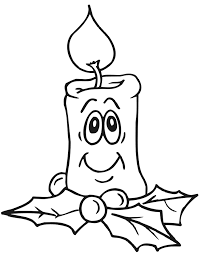Small Picture Christmas Candle Coloring Page Smiling Candle