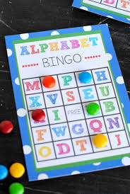 alphabet bingo game just print and play this cute abc bingo game and game boards