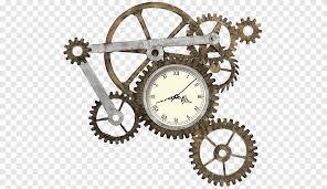brown gear og clock ilration