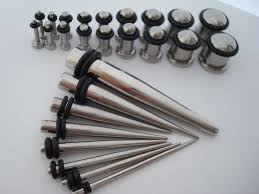 taper gauge kit. ear taper stretching plugs gauge kit r