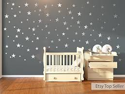 120 silver metallic stars wall stickers wall decals nursery wall stickers wall on wall art childrens bedrooms uk with 120 silver metallic stars wall stickers wall decals nursery wall