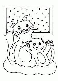 Leuk Voor Kids Een Kitten Op Een Pantoffel Throughout Kleurplaten