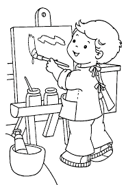 Free Painting Pages Free Painting Coloring Pages Paint Brush