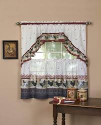 Kitchen Curtains With Rooster Designs Window Curtain Tier Swag With Valance Country Rooster Curtains For Kitchen Set