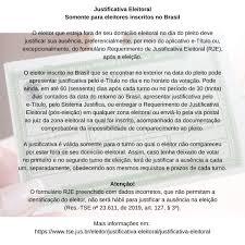 Justificativa Eleitoral Somente para... - Embaixada do Brasil em Paramaribo  / Embassy of Brazil in Paramaribo