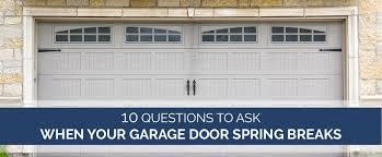 garage door spring break questions