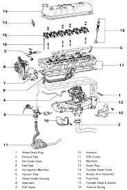 lexus truck rx awd l fi dohc cyl repair guides 32 exploded view of the cylinder head assembly f and 2f engines