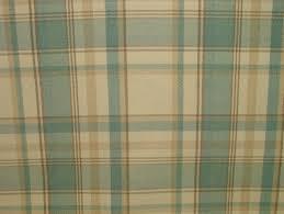 Curtain Fabric Elgin Sky Blue Wool Effect Washable Thick Tartan Curtain Fabric