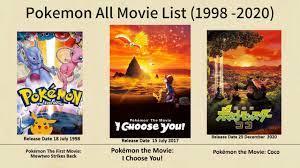 Pokemon All Movie list (1998 - 2020) - YouTube