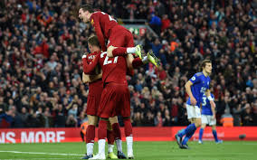 Who's ready for another big premier league game under those special anfield lights?? Last Minute James Milner Penalty Breaks Leicester S Resistance As Liverpool March On
