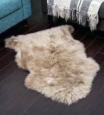 taupe colour sheepskin rug lamb skin lambskin australia