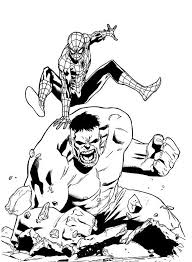 72 spiderman pictures to print and color. Hulk And Spiderman Coloring Page For Kids Spiderman Coloring Hulk Coloring Pages Superhero Coloring