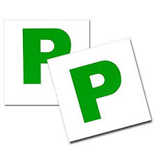 2 X Magnetic Passed Pass New Driver Green P Plate Plates For Car Vehicle