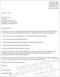 resume cover letter samples construction superintendent superintendent cover letter