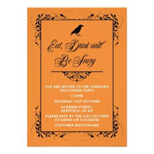 Halloween Invitations Cards Halloween Party Invitation Elegant Adult Invite Zazzle