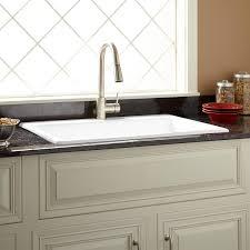 33 Palazzo Cast Iron Drop In Kitchen Sink White Kitchen