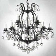 versailles 12 light iron and crystal chandelier