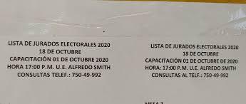 Elecciones presidenciales 2020. Lista de... - Gobierno Autónomo Municipal  El Puente | Facebook