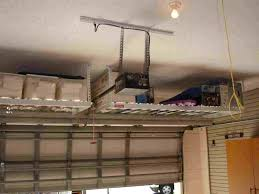 overhead garage storage rack with white rhkinggeorgehomescom x diy hanging shelves from ceiling custom overhead garage