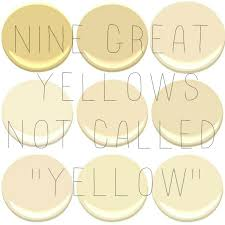 best yellow paint colorsTHE BEST INTERIOR YELLOWS