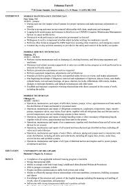 Mobile Technician Resume Samples Velvet Jobs