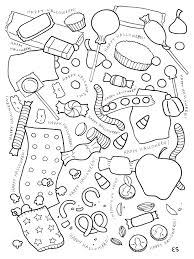 candy coloring page. Wonderful Page Halloween Candy Coloring Page On