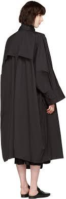 issey miyake black oversized trench coat women issey miyake jacket issey miyake leau dissey