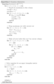 pseudocode for gaussian elimination