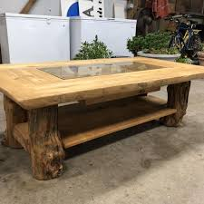 The log coffee table from phillips collection would be a great eclectic & global addition to your home. Best Log Cabin Style Coffee Table For Sale In Champaign Illinois For 2021