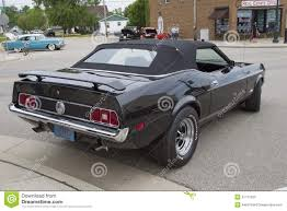 1973 Ford Mustang Black Convertible Car Editorial Image - Image ...