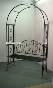 Small Picture Metal Garden Arch With Bench Buy Metal Garden Arch With Bench