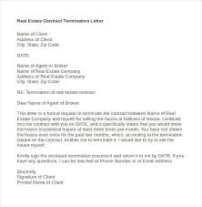 Real Estate Contract Termination Letter in Word Do