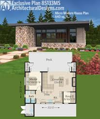 small modern house plans.  Small Architectural Designs Micro Modern House Plan 85133MS Gives You Just Over  600 Square Feet Of Living And A Great Room That Opens Wide To The Back Deck On Small Plans H