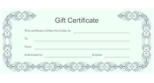 Gift Certificate Printable Free Free Fill In Gift Certificate Moontex Co