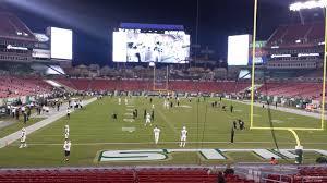 raymond james stadium map seating information raymond james