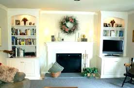built ins around fireplace with bookshelves ideas bookcases stone white