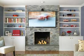pretty fireplace side cabinets image decor in family room contemporary design ideas with pretty book shelves