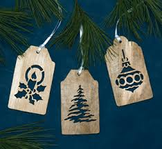 Indoor Christmas - Gift Tag Scroll Saw Ornament Patterns