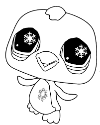 Littlest Pet Shop Coloring Pages Cute Penguin Coloringstar