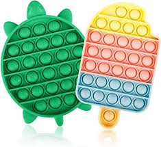 4.5 out of 5 stars. Amazon Com Jasilon Newest Design Upgraed Material 2pcs Push Pop Bubble Fidget Sensory Toy Autism Special Needs Silicone Stress Reliever Toy Anti Anxiety Squeeze Sensory Toy For Kids Turtle Icecream Toys Games