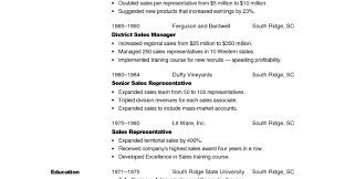 Free Sales Resume Templates Examples Of Financial Report New