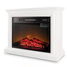 large room electric quartz infrared fireplace heater deluxe mantel 1400 watt
