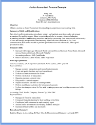 Accounting Resume Example Examples Of Resumes