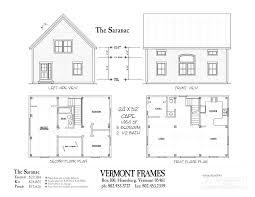 timber frame home plan saranac 1