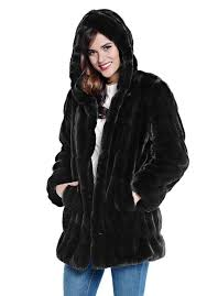 onyx mink couture hooded faux fur coat 1