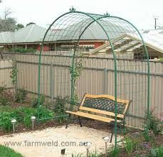 round top garden arch with mesh sides