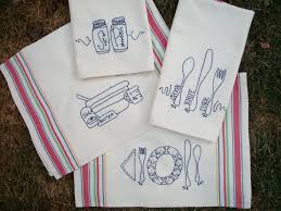 sack dish towels kitchen retro kitchen tea towels for embroidery patterns